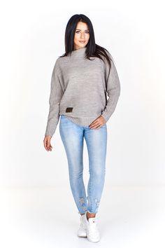 Dámský jednobarevný úpletový svetr. Turtle Neck, Sweaters, Pants, Fashion, Trouser Pants, Moda, Fashion Styles, Women Pants, Sweater