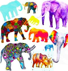 m-e-r-m-a-i-d-c-h-i-l-d:    I'm so proud <3   Btw: I didn't create any of the elephants, I just put them together. If any of this elephants belong to you please make sure to message me so I can give you credit for it.