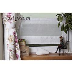 Zazdrostka z etaminy koronka 40 Shabby Chic, Curtains, Houses, Blinds, Draping, Picture Window Treatments, Window Treatments, Kleding, Shabby Chic Decorating