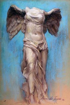 Polina & Dmitry Luchanov. Nike of Samothrace 60-90cm. pastel