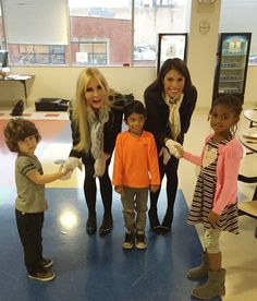 Elementary Etiquette Society founder Celeste Jones (left) with students at British International School of Chicago, Lincoln Park. Source     British International School...