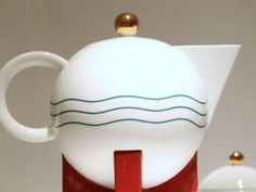 A teapot designed by Michael Graves