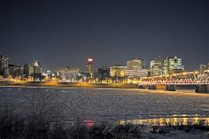 Russell Fry › Portfolio › Harrisburg Skyline at Night in Winter