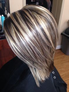 Frisuren (fall hair cuts and color)Blonde highlights on brown hairPin by Margaret on Mom in 201845 Silver Hair Color Ideas For Grey HairstylesNeed a gift ideas for cooks? ✩ Check out this list of creative present ideas for people who are into cooki Blonde Highlights With Lowlights, Colored Highlights, Chunky Highlights, Blonde Highlights On Dark Hair Short, Fall Hair Highlights, Foil Highlights, Caramel Highlights, Low Lights And Highlights, Blonde Foils