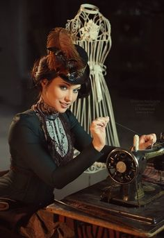 More of Maria Berseneva sewing Shibina Nadegda, photographer Li Lobanova, make up and hair