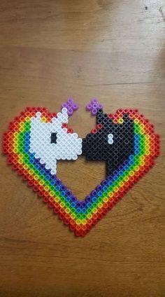 Unicorn Love perler