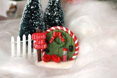 Mini Elf Door  Fairy Door  Christmas Decor  by GnomeWoods on Etsy