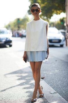 Street Style Paris Fashion Week - Paris Spring 2014 Street Style Photos - Elle (love the top)