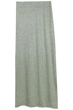 ROMWE | Split Hem Grey Skirt, The Latest Street Fashion#ROMWE