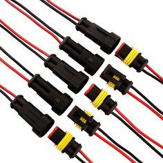 5 pz/lotto 2 Pin Way Impermeabile cavo Elettrico Connettore Spina di Adattatore W/Filo AWG per Auto Moto
