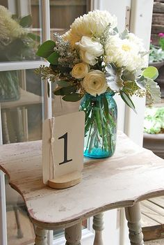 mason jars used. how much these blue ones? where do you buy them? the huge puffy mums are pretty good