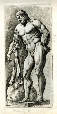 Jan de Bisschop after François Perrier, Farnese Hercules, Amsterdam, ca. 1669.