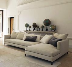 Yes, this has back cushions, but we could have something made without them. hampton sectional 2