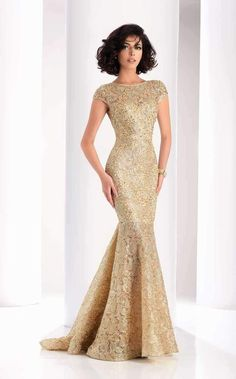 ... designer gowns for your special event! Clarisse 4852 Gold Lace Dresses 8f744a0b1874