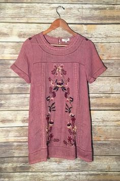 ad3ad02beb52 Southwest Dreams Embroidered Tunic Dress Embroidered Tunic