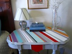 Table painting idea... I love all the colors :-)