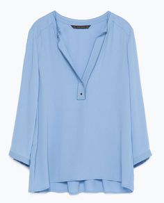 BLOUSE WITH 3/4 LENGTH SLEEVES-Blouses-Tops-WOMAN | ZARA United States