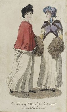 1802. Morning Dress for Feb. 1802. Keep, Milliner, Pall Mall.