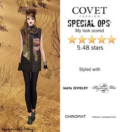 Special Ops  @covetfashion #covet #covetfashion #covetfashionapp #fashion #womensfashion #covetwinter2015 #winter2015 #specialops #rebeccaminkoff #frenchconnection #vincecamuto #obakki #mayajewelry #chromat #suzannadai