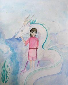 Spirited Away #spiritedaway #anime #movie #chihiro #haku #dragon #pretty #mysterious #love by art_is_life_splash