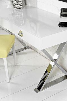 RoomService White Boca Desk on Chairish.com