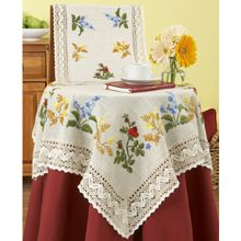 Garden Array Table Linens - idea for machine embroidery set