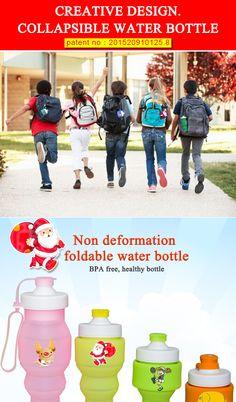 multifunction children water bottle children water bottle FAD water bottle food grade silicone water bottle non-toxic material