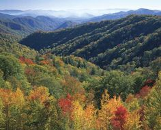 Smoky Mountains in Tennessee and North Carolina, USA