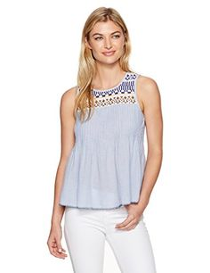 dad8ed9e1ce8c3 Lucky Brand Women's Embroidered Yoke Top at Amazon Women's Clothing store: Lucky  BrandButton Down ShirtTank ...