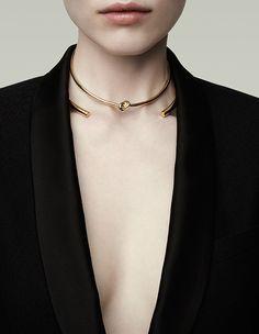 Gold choker#jewellery @Jennifer Fisher F/W 2014