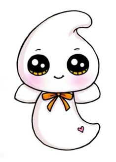 Cute ghost drawing More at @ 365 Kawaii, Chibi Kawaii, Arte Do Kawaii, Kawaii Doodles, Kawaii Art, Kawaii Girl Drawings, Cute Food Drawings, Cute Animal Drawings, Disney Drawings