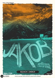 Gig poster by Or8 Design for Jakob's Brighton show