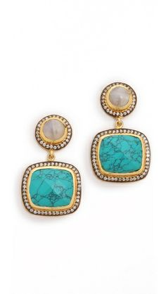 Blossom Box Turquoise Drop Earrings