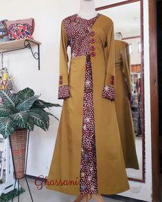 50 Gambar Model Baju Batik Gamis Kombinasi Terbaru  435917aaca