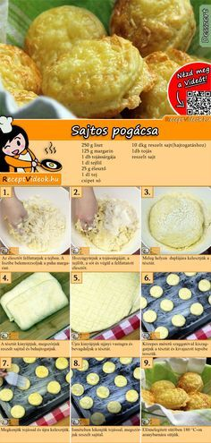 Käse-Pogatschen A delicious cheese dough makes these little rolls especially tasty! No Salt Recipes, Fun Easy Recipes, Baking Recipes, Healthy Recipes, Salty Snacks, Tasty, Yummy Food, Hungarian Recipes, Easy Cooking
