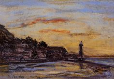 Eugene Boudin, The Honfleur Lighthouse, 1860, pastel on paper