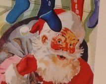 Christmas Card Set- Retro Santa Claus Cards - 3 Merry Christmas notecards -