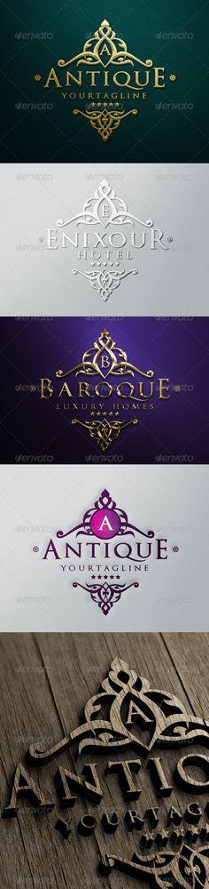 Antique Luxury Logo Design Template - Crests Logo Template Vector EPS, AI Illustrator. Download here: https://graphicriver.net/item/antique-luxury-logo/6205248?ref=yinkira
