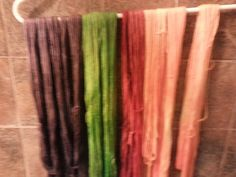 My first attempt at kool aid dyeing! :-)