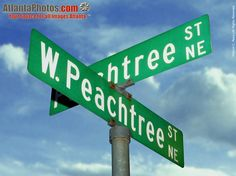 Peachtree St. and W. Peachtree St. signs., Atlanta GA