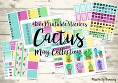 Miss Kellz Planning: May Collection - Cactus #FreePrintableStickers