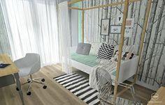 Pokój nastolatki - Gdańsk, osiedle Alfa Park : styl , w kategorii Pokój dziecięcy zaprojektowany przez Pracownia Projektowa MOJE My Room, Girl Room, Kids And Parenting, Interior, Rooms, Furniture, Home Decor, Homes, Bedrooms
