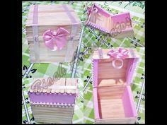 Como fazer caixinha de palitos de picolé - Faça você mesmo!! #Artesanato - YouTube
