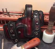 Quality and comfort with this luxurious two-toned Presidio Holster www.lakecustomholsters.com #leatherholsters #concealedcarry #opencarry #holsters #guns #LCH