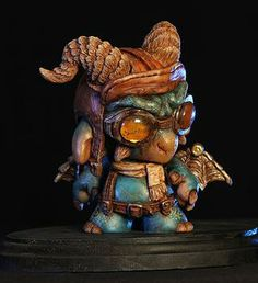 """""""Puff the Steampunk Dragon"""" by Monster Mind Sculpts 