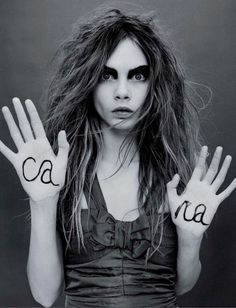 Cara Delevingne I black and white #photography