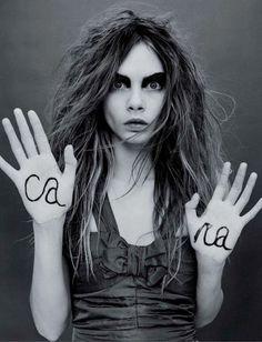 Cara Delevingne I black and white #photography
