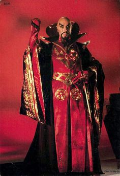 """""""Flash Gordon"""" 1980 Max von Sydow as Ming the Merciless. He looked exactly like Flash Gordon creator,Alex Raymond envisioned him. Fiction Movies, Science Fiction Art, Sci Fi Movies, Movie Tv, Mad Science, Flash Gordon, Horror Show, Sci Fi Horror, Jules Verne"""