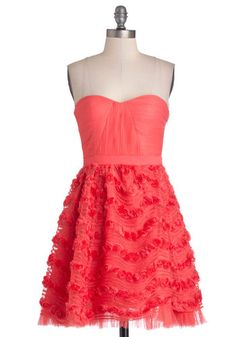 Occasion for Celebration Dress - Red, Solid, Flower, Prom, Party, A-line, Strapless, Better, Sweetheart, Woven, Mid-length, Knit