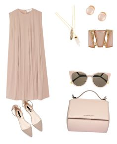 """""""Working with nudes."""" by ashmarieb2712 on Polyvore featuring Givenchy, Fendi, Kenneth Jay Lane, Privileged and M&Co"""